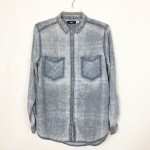 Urban Outfitters | Blue Denim Flannel NWOT. Medium